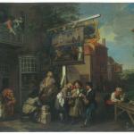 Fig. 03b. William Hogarth, «Canvassing for Votes», 1754, olio su tela (Sir John Soane's Museum, London)