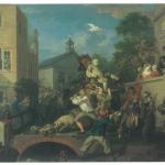 Fig. 03d. William Hogarth, «Chairing the Member», 1754, olio su tela (Sir John Soane's Museum, London)