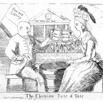 Fig. 06. «The Election Tate á Tate», Hannah Humphrey, London 1784, acquaforte (British Museum, London)