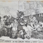 Fig. 07. Thomas Rowlandson, «Wit's Last Stake or the the Cobling Voters and Abject Canvassers», 1784, acquaforte (British Museum, London)