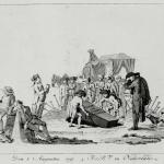 Fig. 20. «Den 8. Augustus 1797. 3. J.d.B.V. in Nederland», 1797, stampa anonima (Lexikon der Revolutions-Iconographie, Historisches Institut, Justus-Liebig-Universität Gießen)