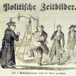 Fig. 22. «Politische Zeitbilder. Die 3 Wahlabtheilungen nach der Natur gezeichnet», 1849 (Lexikon der Revolutions-Iconographie, Historisches Institut, Justus-Liebig-Universität Gießen)