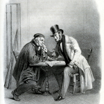 Fig. 32. «Een Kandidat en Enn Kiezer», 1847, litografia (Justus-Liebig-Universität Gießen, Historisches Institut, Lexikon der Revolutions-Iconographie)