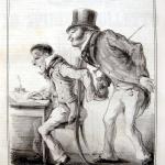 Fig. 34. Antonio Greppi, «Modi di manifestare legalmente il voto pubblico. Colla sottoscrizione. - Sento che i vostri argomenti sono abbastanza di peso», in «Lo Spirito Folletto», 17 maggio 1848.
