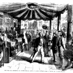 Fig. 45. Thomas Nast, «The Vote for Annexation at Naples. Polling Booth at Monte Calvario», in «The Illustrated London News», November 10, 1860, p. 450.
