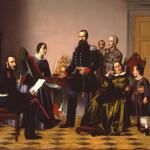Fig. 47, Giovanni Pagliarini, «La Famiglia del Plebiscito», olio su tela, 1860 (Gallerie Civiche d'arte moderna e contemporanea, Ferrara)