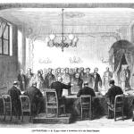 Fig. 53, «Les élections – M. Thiers votant à la section de la rue Saint-Georges», in «L'Illustration. Journal Universel», 5 juin 1869, p. 356.