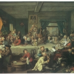 Fig. 03a. William Hogarth, «An Election Entertainment»,1754, olio su tela (Sir John Soane's Museum, London)