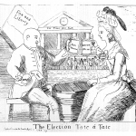 Fig. 06. «The Election Tate á Tate», Hannah Humphrey, London 1784, acquaforte (British Museum, London)