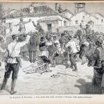 Fig. 12. «Le elezioni in Bulgaria. – Una scena della lotta elettorale a Sciumala, sulla piazza principale», in «L'Illustrazione popolare», 14 novembre 1886, p. 725.