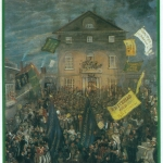 Fig. 13. Anonimo, «The Bedford Town Election of 1832», 1835, olio su tela (Cecil Higgins Art Gallery, Bedford)