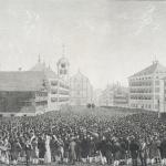 Fig. 15. Johann Jakob Mock, «Die Landsgemeinde in Trogen Canton Appenzell V.R. am 24. Aprill 1814», 1814, acquatinta (Schweizerische Landesbibliothek, Bern)