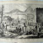 Fig. 16. «Mœurs politiques de la Suisse - Landsgemeinde dans le canton de Schwitz - Dessin de M. Lix d'après le croquis de M. Henri Ganiez», in «Le Monde Illustré», 26 avril 1873.