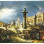 Fig. 19. Felice Giani, «La festa delle Federazione a piazza San Pietro», 1798, olio su tavola (Museo di Roma)