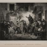 Fig. 27. Jozef Geirnaert, «Les élections en Belgique (1831) Belgische Kienzingen», Dewasme, Bruxelles, 1831, litografia (Bibliotèque Royale de Belgique, Bruxelles)