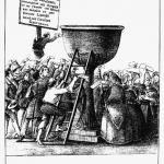Fig. 37. «Suffrage Universel», in «L'Argus», Bruxelles, 9 avril 1848 (Justus-Liebig-Universität Gießen, Historisches Institut, Lexikon der Revolutions-Iconographie)
