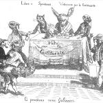 """Fig. 44. «Libera e Spontanea Votazione per la Costituente», in """"Grande Riunione tenuta nella sala dell'ex Circolo Popolare in Roma"""", Tipografia Paternò, Roma, 1849, p. 129."""