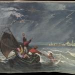 Fig. 1. John James Story, «Panorama Garibaldi», 1860, lato 1, scena 1 (Brown University Library, Providence)