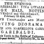 Fig. 3. «Nottingham Daily Express», 19 febbraio 1861