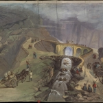 Fig. 7. John James Story, «Panorama Garibaldi», 1860, lato 1, scena 8 (Brown University Library, Providence)