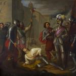 Fig. 16 – Antonio Bertoli, «Morte di Francesco Ferrucci», olio su tela, 205 x 225 cm, 1838 ca. (Museo Civico, Pistoia).