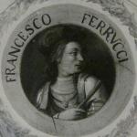 Fig. 02 – «Francesco Ferrucci», affresco sul soffitto del corridoio di ponente, Galleria degli Uffizi, Firenze, ultimo quarto del XVIII secolo (riproduzione fotografica presso: Museo Ferrucciano, Gavinana).