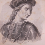 "Fig. 06 – Gandin, «Francesco Ferrucci», litografia; in: Francesco Domenico Guerrazzi, ""Vita di Francesco Ferruccio"", I, Guigoni, Milano 1865 (Biblioteca Pietro Thouar, Firenze)."