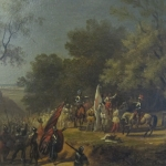 Fig. 11 – Massimo d'Azeglio, «Brindisi di Francesco Ferrucci, Generale dei Fiorentini, a' suoi soldati prima della battaglia di Gavinana», olio su tela, 30 x 20 cm, 1834 (Museo Ferrucciano, Gavinana).