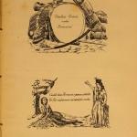 """Fig. 24 – Nicola Sanesi, biglietti da visita illustrati, primavera 1848 (riproduzione tratta da: Gabardo Gabardi, """"Mia madre. I suoi tempi, i suoi amici"""", I, Stabilimento G. Civelli Editore, Firenze 1900)."""