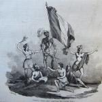Fig. 25 – Chiappori, «Ferruccio. Quadro plastico rappresentato dalla compagnia Keller», incisione su legno di Ratti e Charlot; in: «Il mondo illustrato», Torino, 15 luglio 1848.