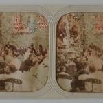 Fig. 3 – Autore anonimo, Il salotto borghese, anni 1860, diapositiva stereoscopica (collezione privata)