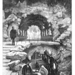 """Fig. 02 – Scorcio panoramico della scale a grotta dell'acquario di Berlino. Da un disegno di E. Schmidt (tratto da: G. Rasch, """"Das Berliner Aquarium"""", in «Illustrierte Zeitung», 19 giugno 1869, p. 477)"""
