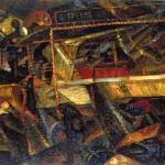 Fig. 8 – Carlo Carrà, «Ciò che mi ha detto il tram», 1911, olio su tela, 52 x 62 cm (Mart-Museo di Arte Moderna e Contemporanea di Trento e Rovereto, Rovereto)