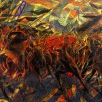 Fig. 3 – Carlo Carrà, «I funerali dell'anarchico Galli», 1910-1912, olio su tela, 198,7 x 259,1 cm (The Museum of Modern Art, New York)