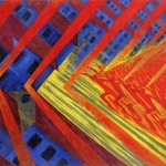 Fig. 4 – Luigi Russolo, «La rivolta», 1911, olio su tela, 150,8 x 230,7 (Collection Gemeentemuseum Den Haag, L'Aja)