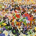 "Fig. 5 – Gino Severini, «La danza del ""pan-pan"" al Monico», ante 1912 (1959-1960), olio su tela, 280 x 400 cm (Centre Pompidou, Musée National d'art moderne, Parigi)"