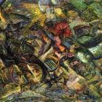 Fig. 7 – Carlo Carrà, «Sobbalzi di carrozza», 1911, olio su tela, 52,3 x 67,1 cm (The Museum of Modern Art, New York)