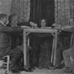 """Fig. 10 – La medium Eusapia Palladino a Genova (tratta da: Cesare Lombroso, """"Ricerche sui fenomeni ipnotici e spiritici"""", Utet, Torino 1909, p. 50; Biblioteca comunale teresiana, Mantova)"""