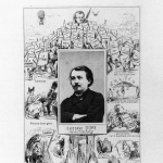 Fig. 01 – Carlo Gripp, «Gustave Doré. Photo-Biographie», fotografia di Pierre Durat applicata su un foglio volante di caricature, 1869 ca. (Bibliothèque nationale de France, Paris).
