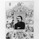 Fig. 01 – Carlo Gripp, «Gustave Doré. Photo-Biographie», fotografia di Pierre Durat applicata su un foglio volante di caricature, 1869 ca. (Bibliothèque nationale de France, Paris).