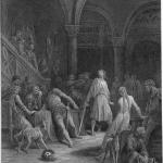 "Fig. 05 – Gustave Doré, «Geraint decapita Earl Doorm», incisione su acciaio, in Alfred Tennyson, ""Idylls of the King. Enid"", Moxon and Co, London 1868, in-folio, tavola VIII."