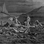 Fig. 08 – Gustave Doré, «La barca di Caronte», xilografia, in Dante Alighieri, L'enfer, Hachette, Paris 1861, in-folio.