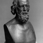 Fig. 14 – Thomas Woolner, «Alfred Tennyson», 1873, gesso, h: 71,8 cm. (National Portrait Gallery, London).