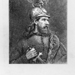 """Fig. 10 – «Arthur, from a photography study by Julia M. Cameron», xilografia, 8,6 x. 7,1 cm, in """"The Works of Alfred Tennyson"""", Cabinet edition in ten volumes, H. S. King., London 1874-1877."""