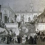 Fig. 1a – «Feste di Roma», in «Il Mondo Illustrato», 24 luglio 1847.