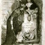 Fig. 11a – Francesco Redenti, Ippolito Virginio, «Il Re il cittadino il soldato l'Italia piange», in «Il Fischietto», 13 ottobre 1849, bulino.