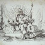 """Fig. 24 – Antonio Masutti, «La tigre coronata», in Michelangelo Pinto, """"Don Pirlone a Roma. Memorie di un italiano dal 1 settembre 1848 al 31 dicembre 1850"""", Torino 1853, incisione."""
