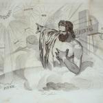"""Fig. 26 – Antonio Masutti, «La gloria», in Michelangelo Pinto, """"Don Pirlone a Roma. Memorie di un italiano dal 1 settembre 1848 al 31 dicembre 1850"""", Torino 1853, incisione."""