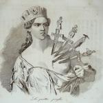 """Fig. 31 – Antonio Masutti, «Le quattro piaghe», in Michelangelo Pinto, """"Memorie di un italiano dal 1 settembre 1848 al 31 dicembre 1850"""", Torino 1853, incisione."""