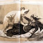 Fig. 33 – Guido Gonin, «La Polonia», in «Lo Spirito Folletto», 5 marzo 1863, litografia su due pagine.